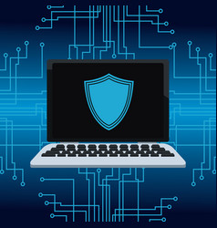 cyber security icons vector image