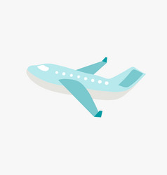 doodle flat airplane vector image
