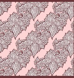 Elegant hand drawn seamless paisley pattern vector