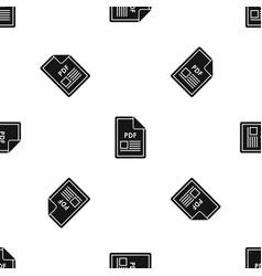 file pdf pattern seamless black vector image
