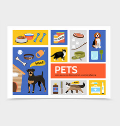 flat pet shop infographic concept vector image