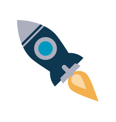 Flying rocket icon image vector