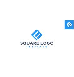 fm or mf square logo design inspiration vector image