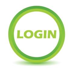 Green login icon vector image