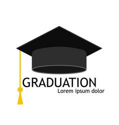Hat graduate cap for student university vector