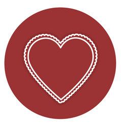 Heart love card icon vector