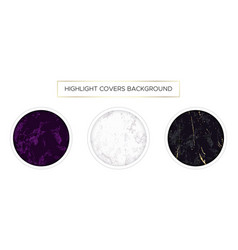 highlight covers backgrounds set marble design vector image