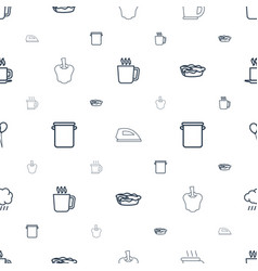 Hot icons pattern seamless white background vector