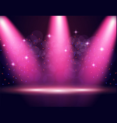illumination of the stage podium spotlights vector image