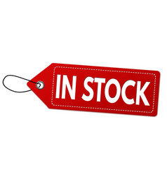 In stock label or price tag vector