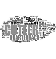 jay cutler draft day picks text background word vector image