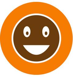 Laughing emoji icon vector