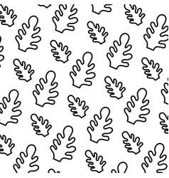 Line botanic cute leaf style background vector