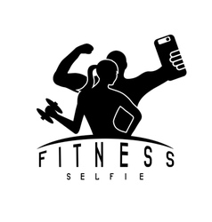 man and woman of fitness silhouette character make vector image