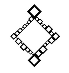 Minimal modern abstract diagonal square badge vector