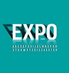 modern exhibition style font desugn alphabet vector image