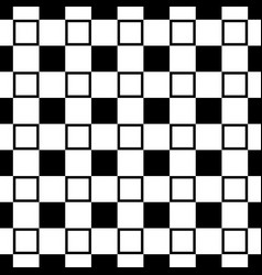 Monochrome seamless geometric square pattern vector