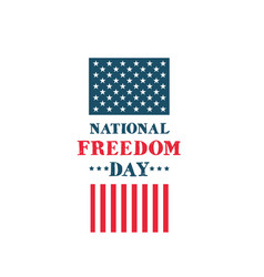 National freedom day vector