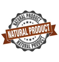 natural product stamp sign seal vector image