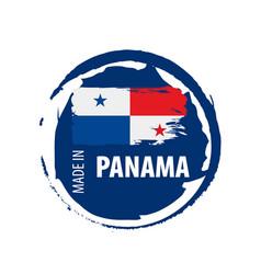 panama flag on a white vector image