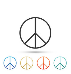 Peace sign icon isolated on white background vector