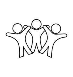 People abstract pictogram vector image