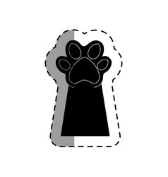 pet paw up icon vector image