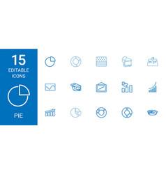 Pie icons vector