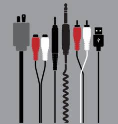plugs vector image