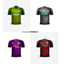 Realistic football uniforms branding vector