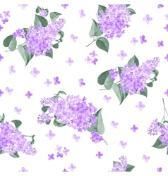 Seamless lilac pattern vector