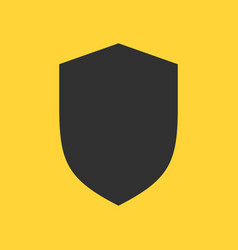 shield flat icon solid pictogram isolated on vector image