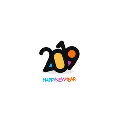 Simple isolated new year 2019 logo black vector