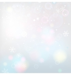 Snowflakes light background vector image