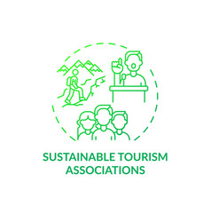 Sustainable tourism associations concept icon vector