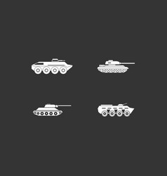 tank icon set grey vector image