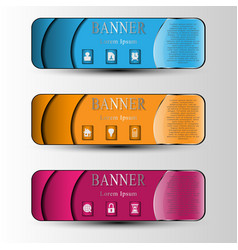 the set of colored info graphic banners vector image