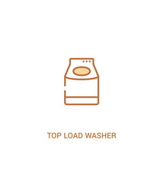 Top load washer concept 2 colored icon simple vector