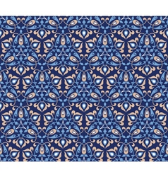Traditional arabic decor on blue background vector image