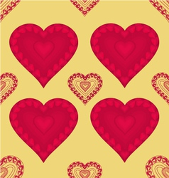 Valentines day seamless texture heart with hearts vector image