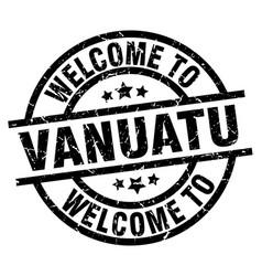 welcome to vanuatu black stamp vector image