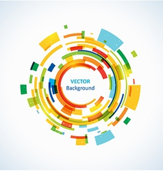 Bright technology circles backgrounds vector image vector image
