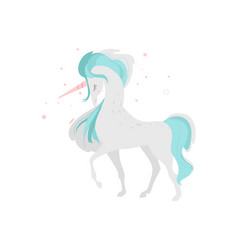 mythical unicorn character side view vector image vector image