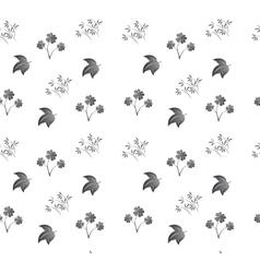 seamless texture plants vector image