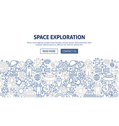 space exploration banner design vector image