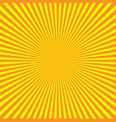 yellow-orange rays of light in radial arrangement vector image