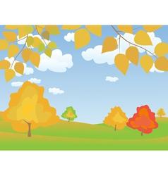 autumn 4 vector image