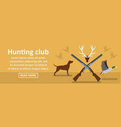 hunting club banner horizontal concept vector image