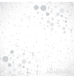 Molecules on gray background vector image vector image