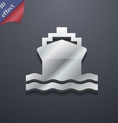 ship icon symbol 3D style Trendy modern design vector image vector image